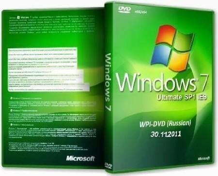 Microsoft  Windows  7 Ultimate ie9 SP1 x86/x64 WPI - DVD 30.11.2011