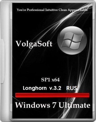 Windows 7 Ultimate SP1 VolgaSoft (Longhorn) v.3.2 (x64/RUS/2012)