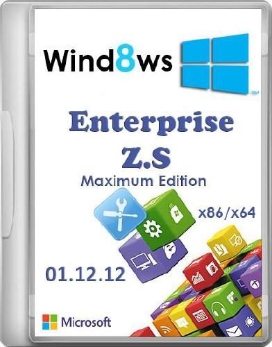 Windows 8 Enterprise Z.S Maximum Edition 01.12.12 (х86/x64/RUS)