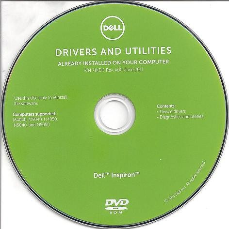 Драйвера и утилиты для Dell INSPIRON M4040, M5040, N4050, N5040 and N5050