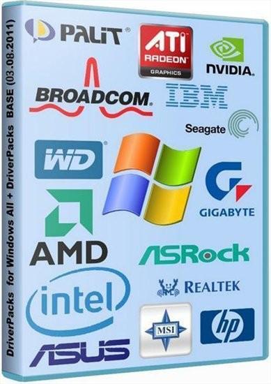 DriverPacks for Windows 2000/XP/2003/Vista/7 (Update 03.08.2011)