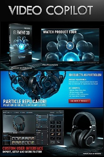 Video Copilot - Element 3D FULL incl CRACK