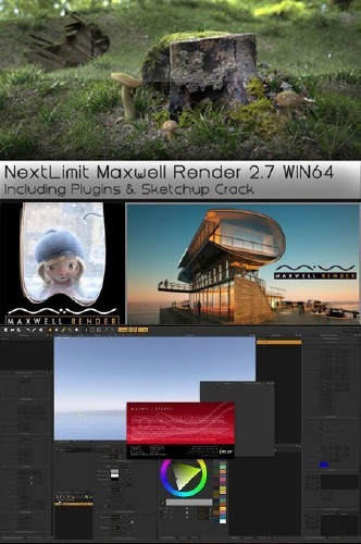 NextLIMIT Maxwell Render 2.7.10 (x86x64) With Plug-ins Incl Crack