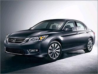 Honda рассекретила внешность нового седана и купе Accord