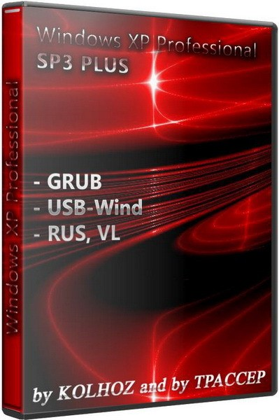 Windows XP Pro SP3 PLUS USB GRUB, USB-Wind x86 by KOLHOZ and TPACCEP (2011/RUS)