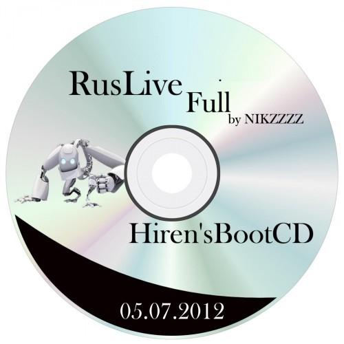 RusLiveFull by NIKZZZZ 07/04/2012 Mod + Hiren'sBootCD 15.1 Full Mod [Rus by lexapass]: AV_Oth_Update (Обновлено 05.07.2012)