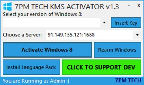 Windows 8 KMS Activator v1.3