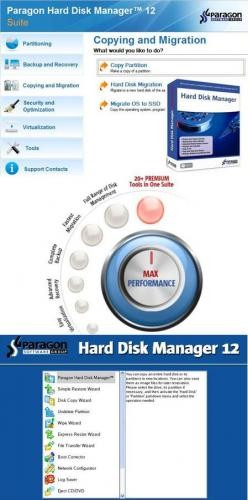 Paragon Hard Disk Manager 12 Professional Bootable with Server 11 (+ Add-ons)