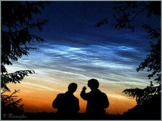 Установлено, что серебристые облака прилетели из космоса