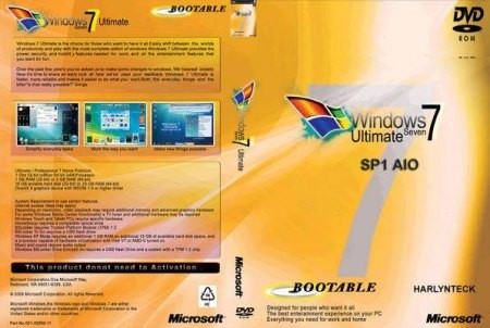 Microsoft Windows 7 SP1 RTM AIO 20 IN 1 English DVD MSDN