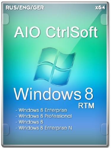 Microsoft Windows 8 RTM x64 AIO CtrlSoft (RUS/ENG/GER/2012)