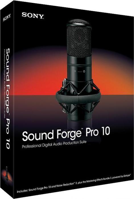 SONY Sound Forge Pro 10.0d Build 503 русская версия - аудио-редактора
