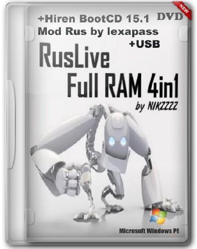 RusLiveFull DVD by NIKZZZZ 07/04/2012 Mod + Hiren'sBootCD 15.1 Full Mod (Rus by lexapass)+USB (Обновлено14.06.2012)