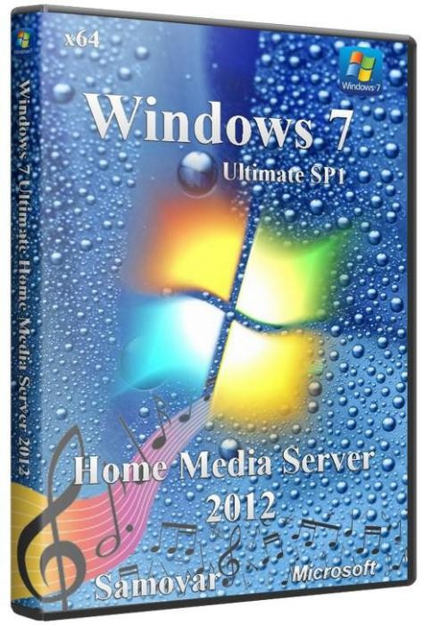 Windows 7 Ultimate Sp1 x64 Home Media Server 2012 Samovar (Rus/2012)