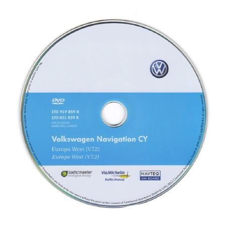 VW navigation DVD Западной Европы [ V.7.2, CD 7551 для RNS 510, 2011 ]