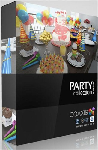 CGAxis 3D Models Vol 13 Party Collection