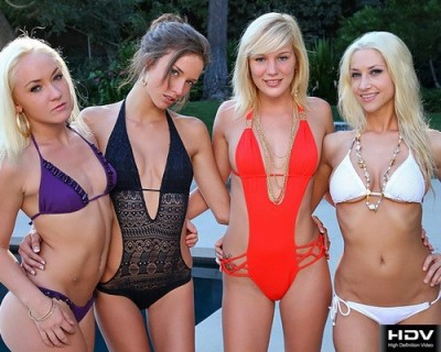 Sammie Rhodes, Malena Morgan, Hayden Hawkens, Sienna Splash - Lovely four (2011/HD/1080p)