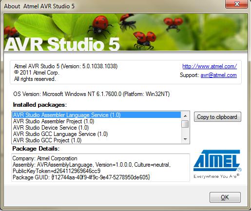 ATMEL AVR Studio 5 5.0.1038.1038 (x86+x64 / ENG)