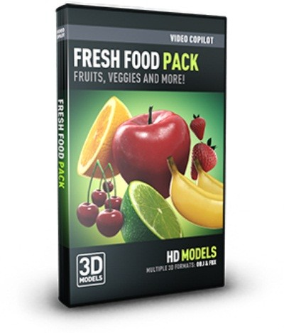 Element 3d Fresh Food Alternate OBJ and MATERIAL