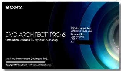Sony DVD Architect Pro 6.0 build 237 [2012, ML+RUS]