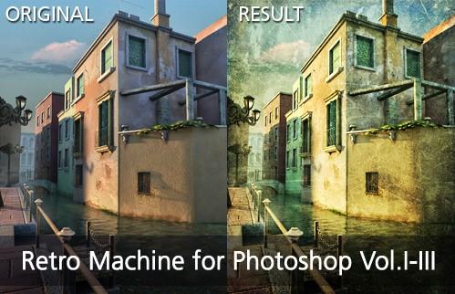 Retro Machine Vol.I-III for Photoshop