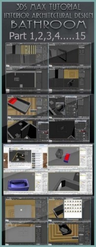3ds Max Tutorial Interior: Architectural Design Bathroom (Full Cource)