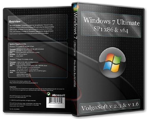 Windows 7 Ultimate SP1 х86-x64 VolgaSoft v 2.3 - v 1.6 (2012/RUS)