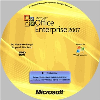 Microsoft Office Enterprise 2007 RUS+KEY