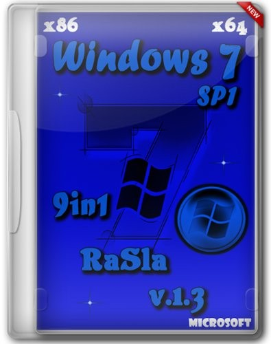 Windows 7 SP1 RUS x86/x64 9in1 RaSla v1.3 (2012/Rus)