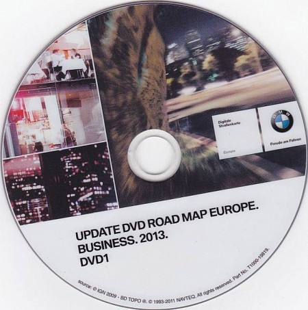 BMW Road Map Europe Business 2013 (DVD1 + DVD2)