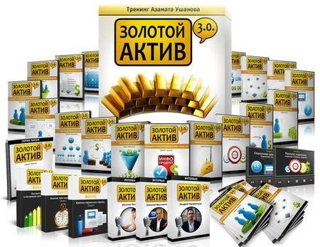 Инфобизнес: Золотой актив 3.0 - Азамат Ушанов (2012, + VIP + все бонусы) Видеоуроки
