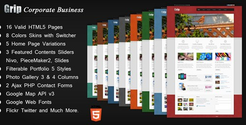 ThemeForest - Grip Corporate Business HTML Template - RiP